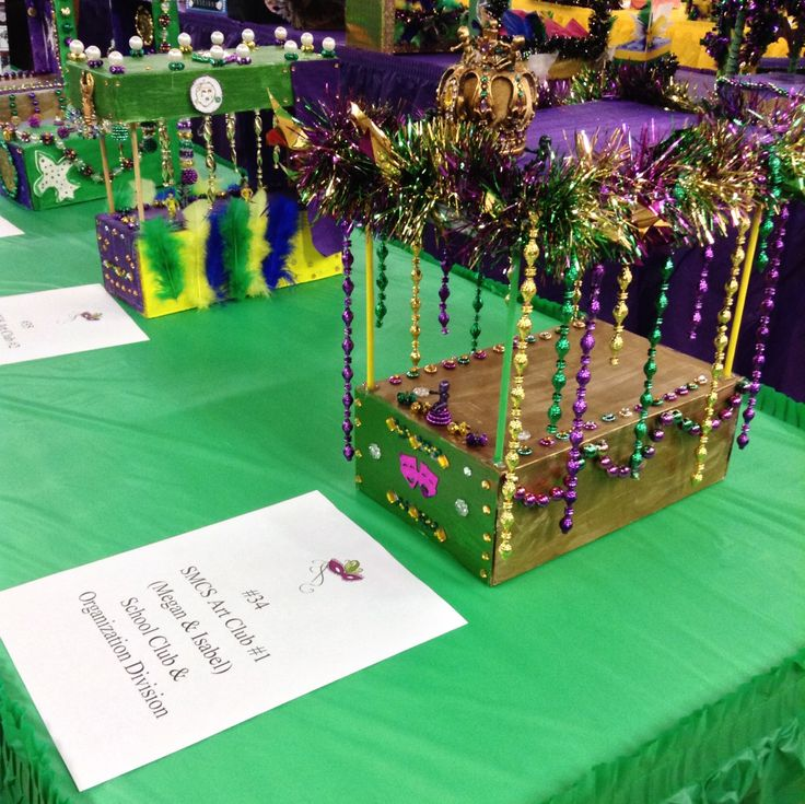 Mardi Gras Kids Crafts Part - 41: SMCS Art Club Members Entered The 2014 Mardi Gras Shoebox Float Contest  Sponsored By Lake Charles