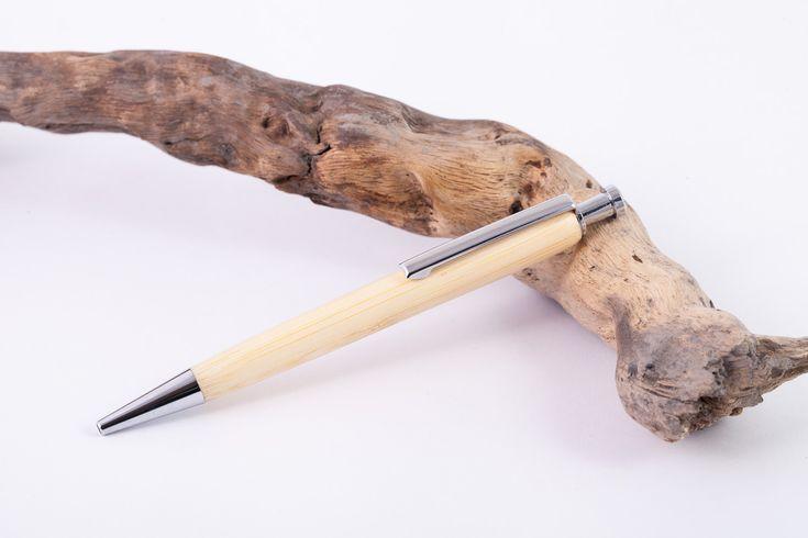 Holz-Klick-Kugeschreiber-Bambus