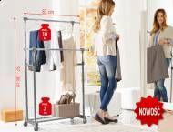 Stojak na ubrania Ordex, cena 79,90 PLN za 1 opak.  - z chromowanymi ...