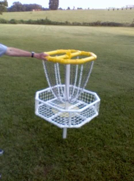 Homemade Disc Golf Target - Disc Golf Course Review