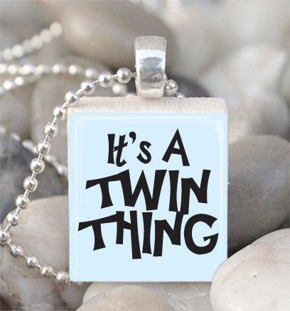 Scrabble Tile Pendant Twin Sister Pendant Twin by IncrediblyHip, $6.00