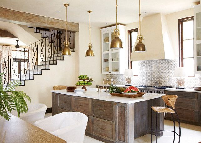 Kitchen. Mediterranean Kitchen Design. Interior Design by Beth Webb Interiors.