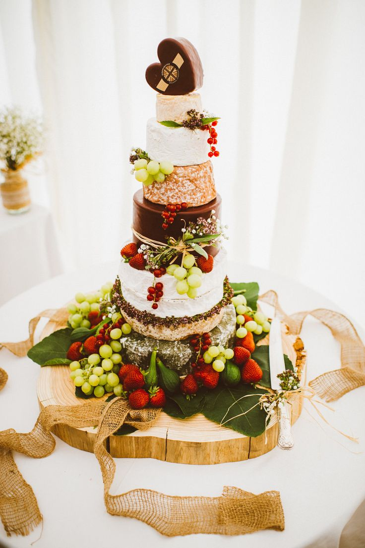 Cheese Tower Wedding Cake | Nettlestead Place Venue | Pastel Colour Scheme | Marquee Reception | Alex Tenters Photography | http://www.rockmywedding.co.uk/samantha-ed/
