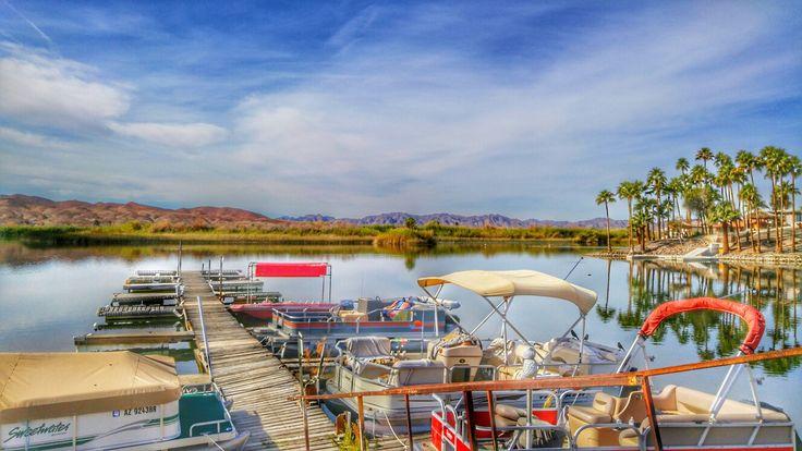 Fisherman's Landing by Andrea Cote, lake, boat, Arizona, photography