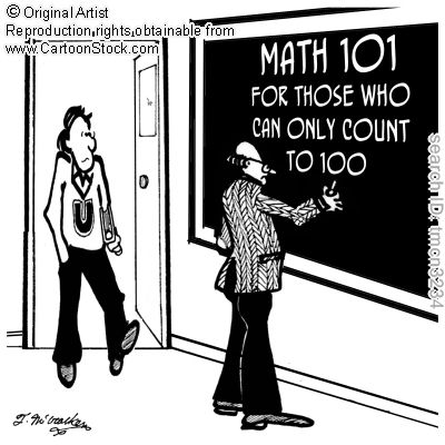 Math 101, for those who can only count to 100. by McCracken, Theresa