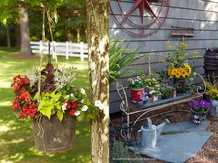 Gradini rustice cu flori - 17 idei de amenajare - Case practice