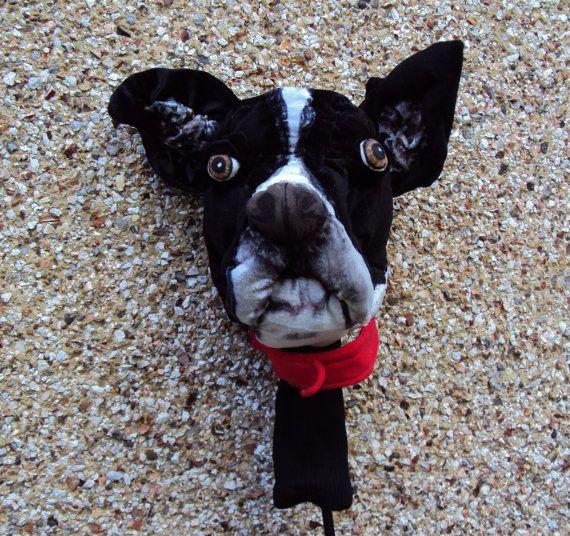 GOLF club head cover Custom Dog portrait Boxerl by Puppetsinabag