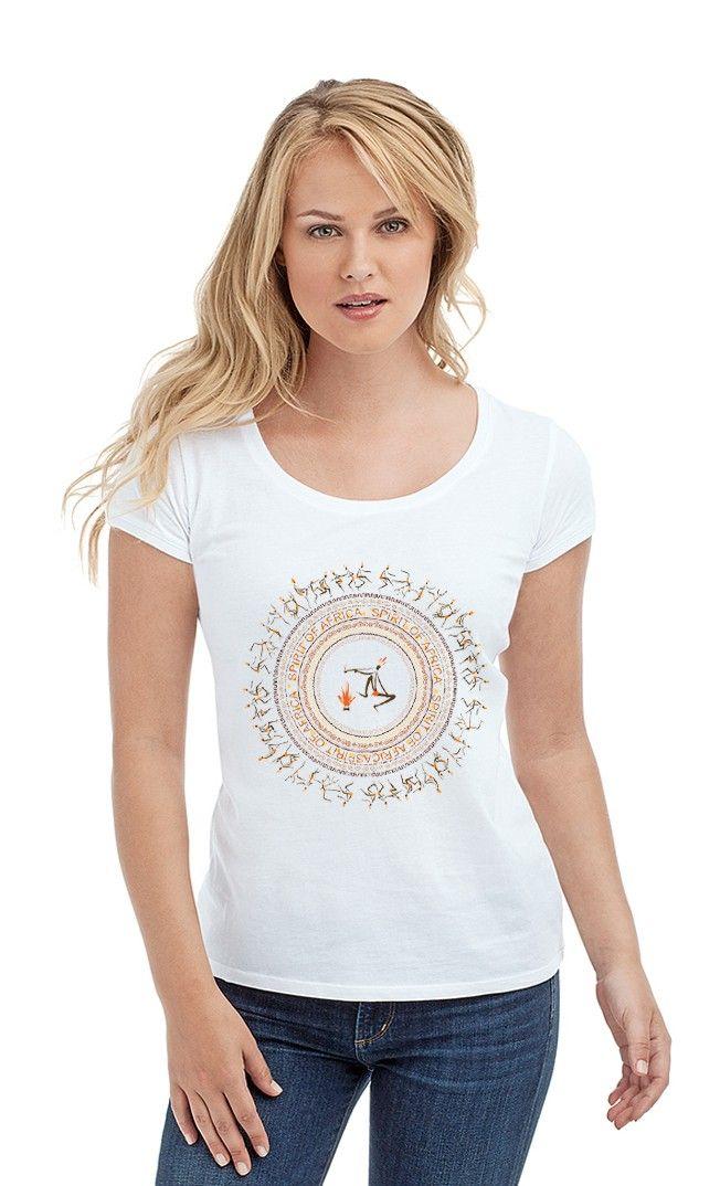 Футболка Танцы Африки. Женские футболки прикольные с надписями и принтами.