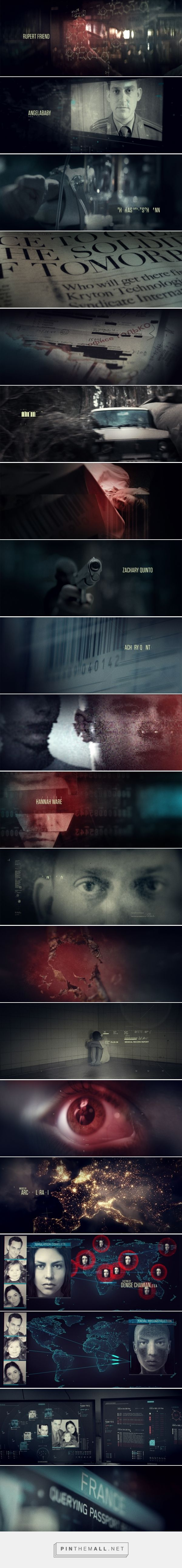 Hitman: Agent 47 Titles on Behance... - a grouped images picture - Pin Them All