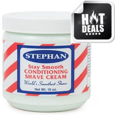 Stephan Stay Smooth Conditioning Shave Cream 16 oz $3.95   Visit www.BarberSalon.com One stop shopping for Professional Barber Supplies, Salon Supplies, Hair & Wigs, Professional Product. GUARANTEE LOW PRICES!!! #barbersupply #barbersupplies #salonsupply #salonsupplies #Stephan #Stay #Smooth #Conditioning #Shave #Cream #16oz