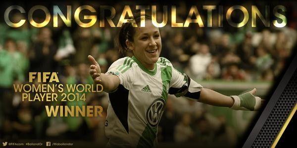 Kadınlarda yılın futbolcusu ödülü de yine almanya'dan Wolfsburg'lu futbolcu Nadine Kessler aldı.