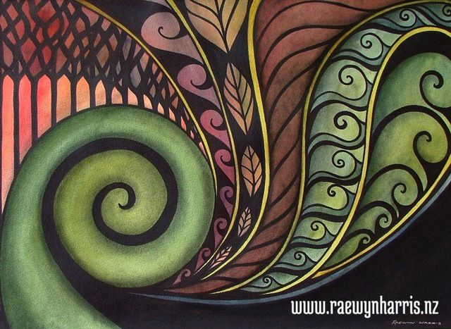 Koru art, landscapes, paintings, Aotearoa, New Zealand, koru, Maori,nature, patterns,Pacifica,land,fern, frond