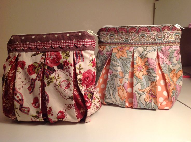 First attempt at cosmetic bags.