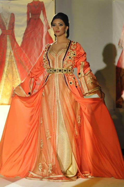 Orange Moroccan Caftan                                                                                                                                                                                 Plus