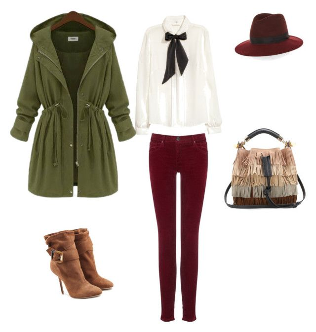 """Autumn wibe"" by lilyks on Polyvore featuring H&M, AG Adriano Goldschmied, rag & bone, Burberry and Chloé"