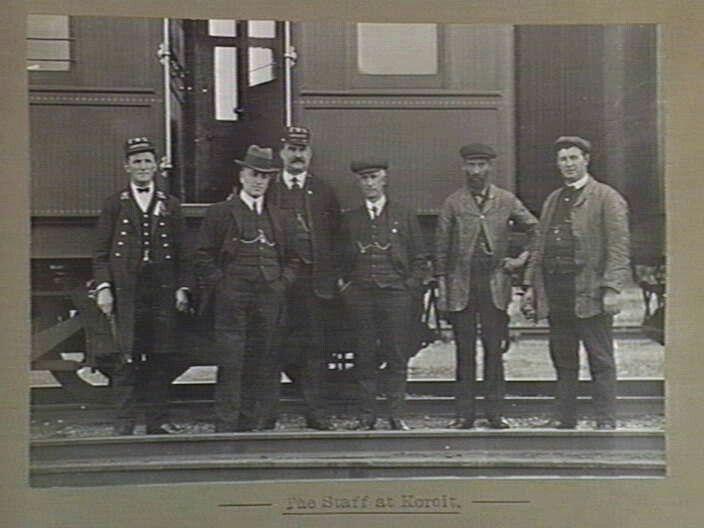 Koroit railway station, Station Street, Koroit. Image of staff 1905-1928