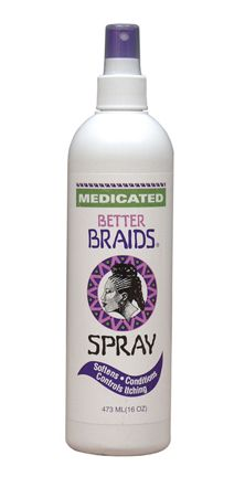 Braid Spray, can be used for American Girl doll hair. Found at a beauty supply store, like Sally's.