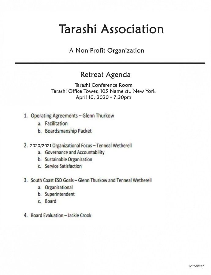 Nonprofit Board Retreat Agenda Template Agenda Template Business Agenda Agenda