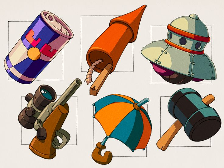 Worms - Various concept art. | by Patrick Romano