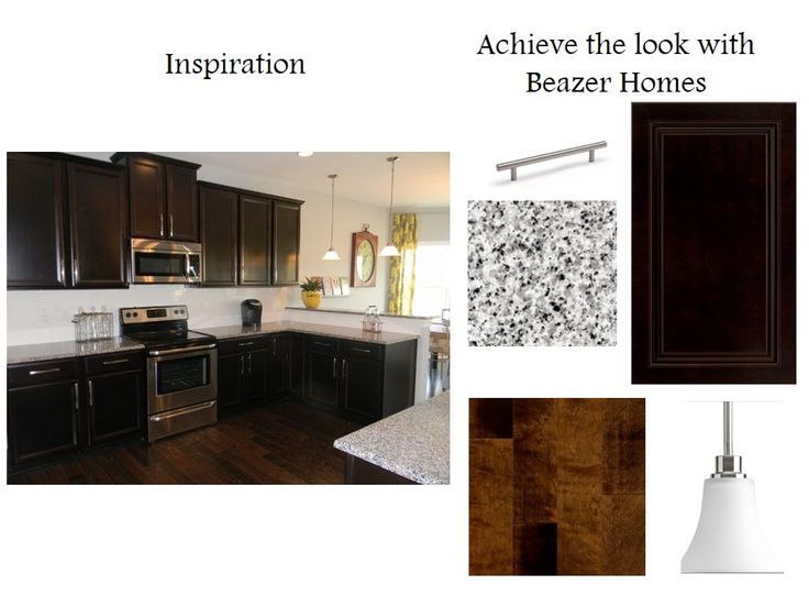 Cumberland Maple Espresso Cabinets With Stainless Steel Appliances, The  Brushed Nickel Joy Pendants, And