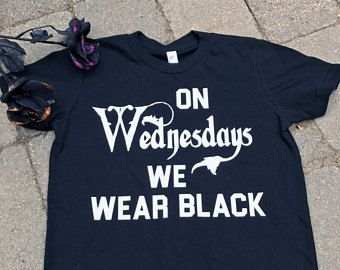 Toddler Halloween shirt/ On Wednesdays we wear Black/ Infant Halloween outfit