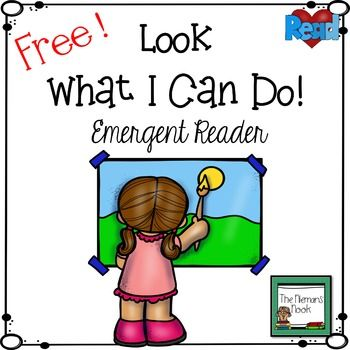 FREE Emergent Reader!  Kids can do so much!  This reader explores some of the more artistic things kids can do.