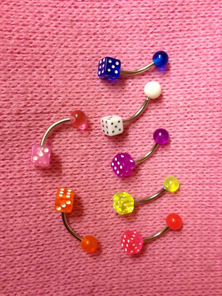 Dice belly bars! Variety of colours £4.50 ech xxx