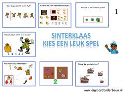Digibordles: 7 verschillende sinterklaasspelletjes voor groep 1. http://digibordonderbouw.nl/index.php/themas/sinterklaas/groep1/viewcategory/353