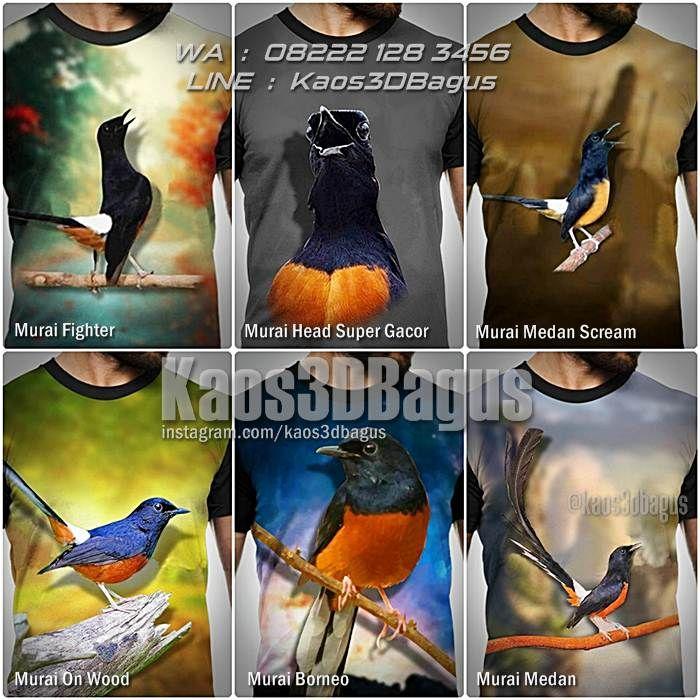 Kaos BURUNG, Kaos MURAI, Kaos MURAI MEDAN, Kaos Klub Burung, Kaos3D, Kaos KICAU MANIA, Kaos Komunitas Burung, https://instagram.com/kaos3dbagus, WA : 08222 128 3456, LINE : Kaos3DBagus