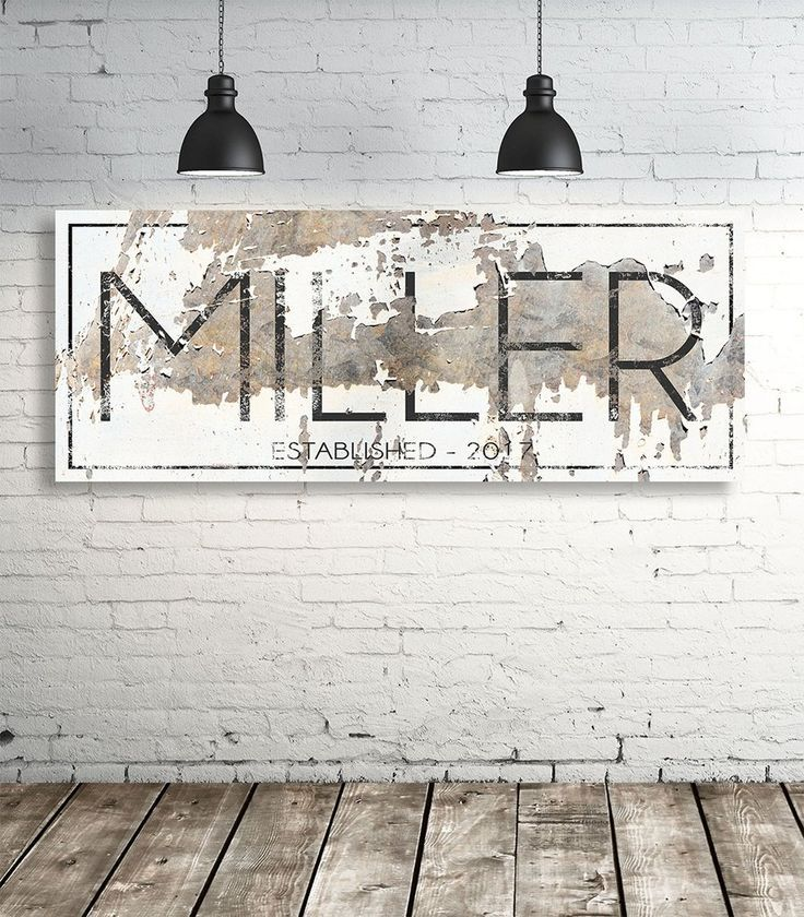 The Miller Sign Personalized Chippy Farmhouse Canvas Wall Art Nlsc0117 Name Wall Art Farmhouse Wall Art Farmhouse Wall