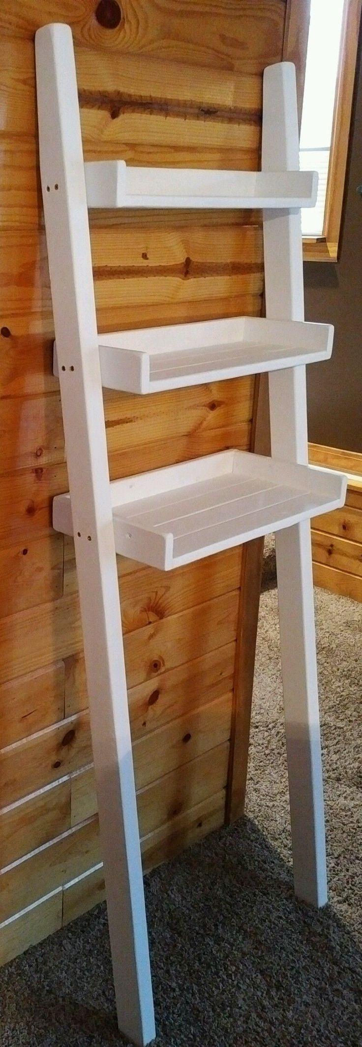 14 Best Leaning Ladder Shelf Images On Pinterest Leaning Ladder Shelf Paint Bathroom And