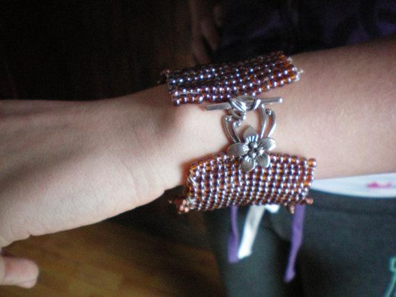 Large handwoven bracelet by ShopBalthazard on Etsy, $75.00