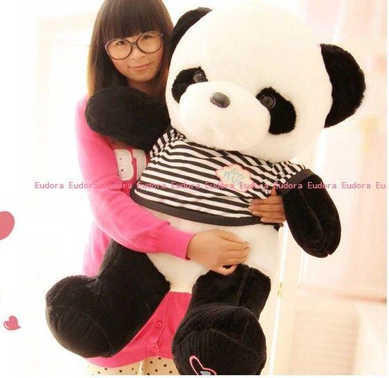 Чучела животных милые панды плюшевые игрушки около 90 см кукла 35 дюймов свитер панда игрушка бросить подушку подушка игрушка t090
