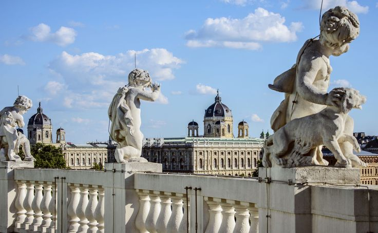 A view of  the Kunsthistorisches Museum Vienna (KHM) from the Burgtheater roof in Vienna #feelaustria