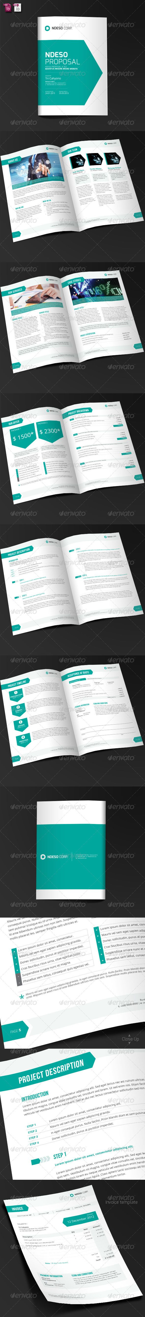 17 best images about project proposal corporate ndeso proposal and invoice template