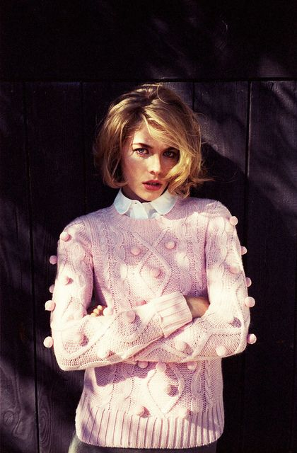 cozy pom pom pink sweater / chunky knit @Charlotte Willner Willner Willner Carnevale Duntze Maker