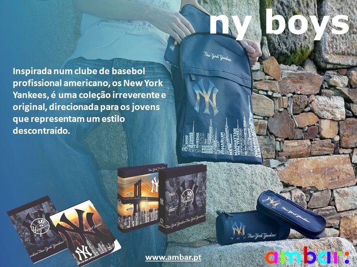 Linha New York Boys da ambar: com um estilo próprio e descontraído! #ambarideiasnopapel #regressoasaulas #mochilas #a: