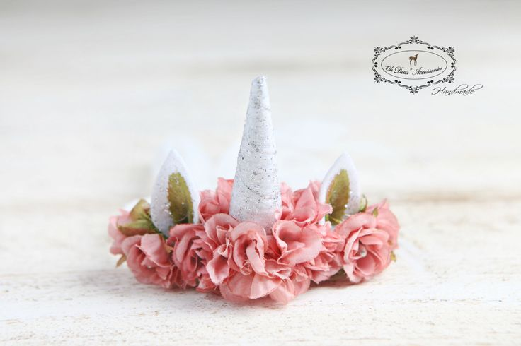 unicorn headband, unicorn, newborn, newborn headband, newborn unicorn headband, magic, fantasy, photo prop, photo session, tie at the back by OhDearAccessories on Etsy
