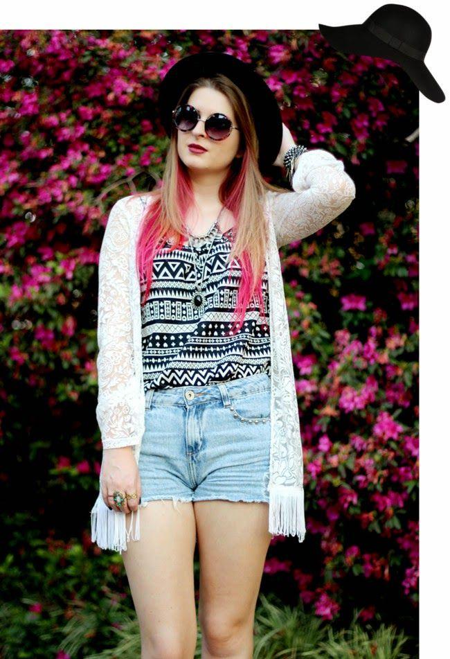 Kimono + Colar Longo + Short è a nova Trend do Verão   Jeito Simples de Ser