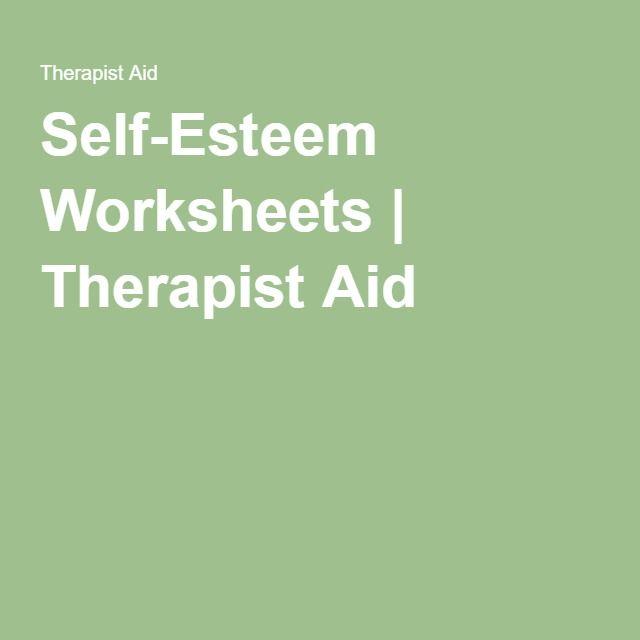 Self-Esteem Worksheets   Therapist Aid
