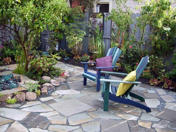 Mosaic Patio: Mosaics Patio, Backyard Ideas, Outdoor Rooms, Patio Stone, Outdoor Spaces, Stones Patio, Patio Ideas, Adirondack Chairs Patio, Backyard Makeovers