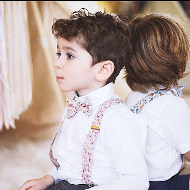 Bretelles et noeud papillon garçon Liberty Eloïse  Enfant d'honneur, cortège, tenue garçon cérémonie, tenue garçon baptême