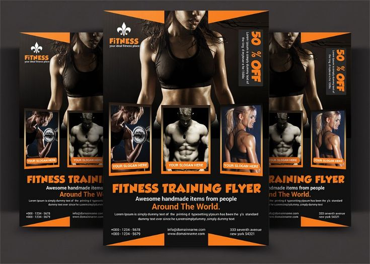 Aerobics FlyerTemplate PSD 20+ Fitness Flyer Template PSD for - fitness flyer