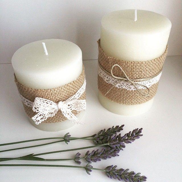 Las 25 mejores ideas sobre velas de encaje en pinterest y - Velas decoradas para bautizo ...