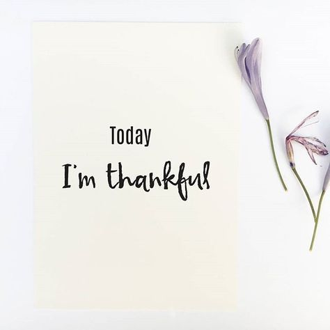 Today I'm thankful! An excellent reminder to be thankful on a daily basis. A way to create abundance by being grateful for what we have. -------------------------------- Shop all quote prints at CraftStreetDesign.com.