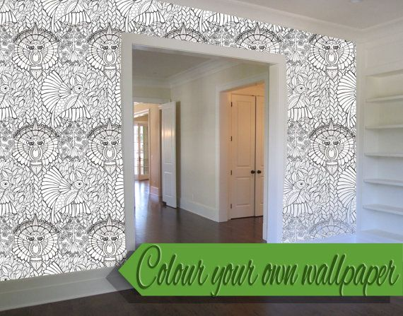 color your own wallpaper coloring book wallpaper by edwinamcnamee
