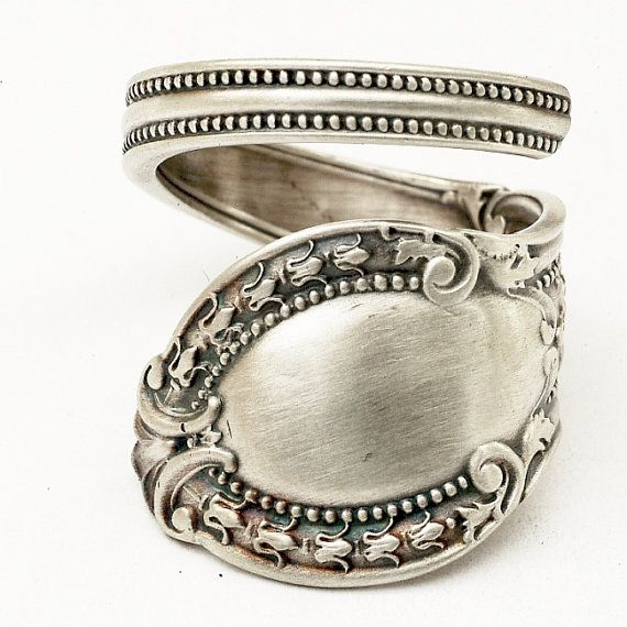 Spoon ring: Forks Spoons Jewelry, Spoon Rings, Silver Spoons, Spoons Rings, Silverware Spoons Forks Knif, Huge Fans, Flower