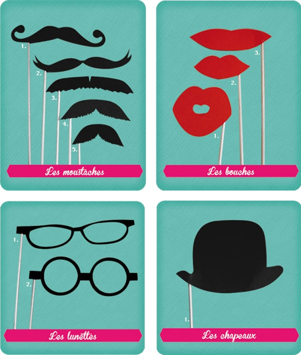 Petits accessoires pour photos rigolotes :)