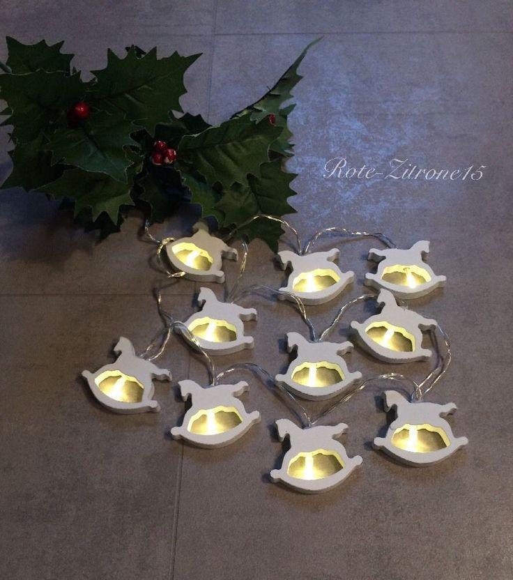 Led Stern Lichterkette Batterie Acryl Sterne warmweiß Advent Weihnachten Leuchte  | eBay