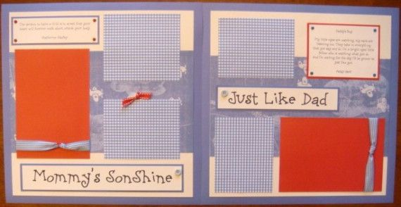 20 12x12 Baby Boy Scrapbook Pages for by moderndayquiltingbee